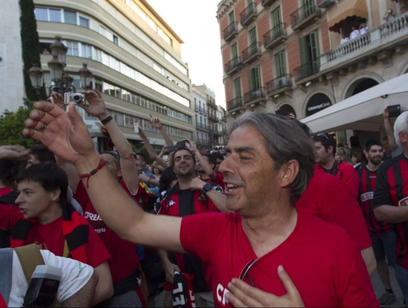 Natxo González, el dia que el Reus va celebrar l'ascens a segona A JOSÉ CARLOS LEÓN