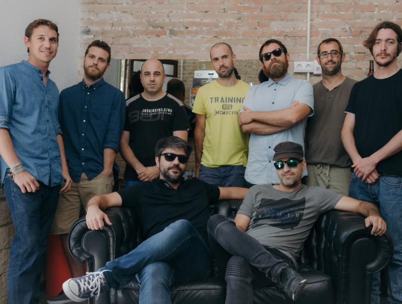 L'equip que forma Broomx Technologies a l aseu de l'empresa que tenen a Barcelona.  Foto:ARXIU