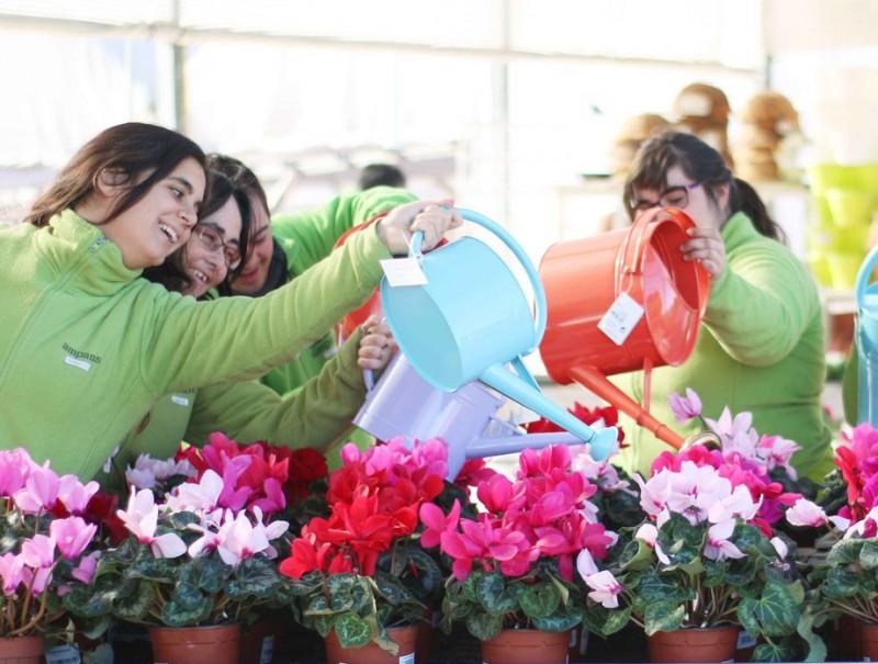 Algunes de les empleades de Garden Ampans.  Foto:ARXIU