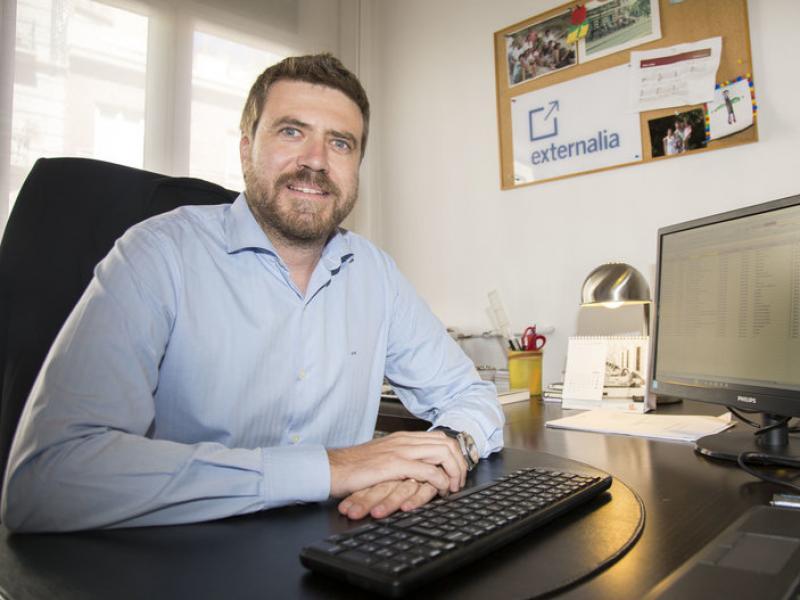 Javier Vila, fundador i director general d'Externalia.  ALBERT SALAMÉ
