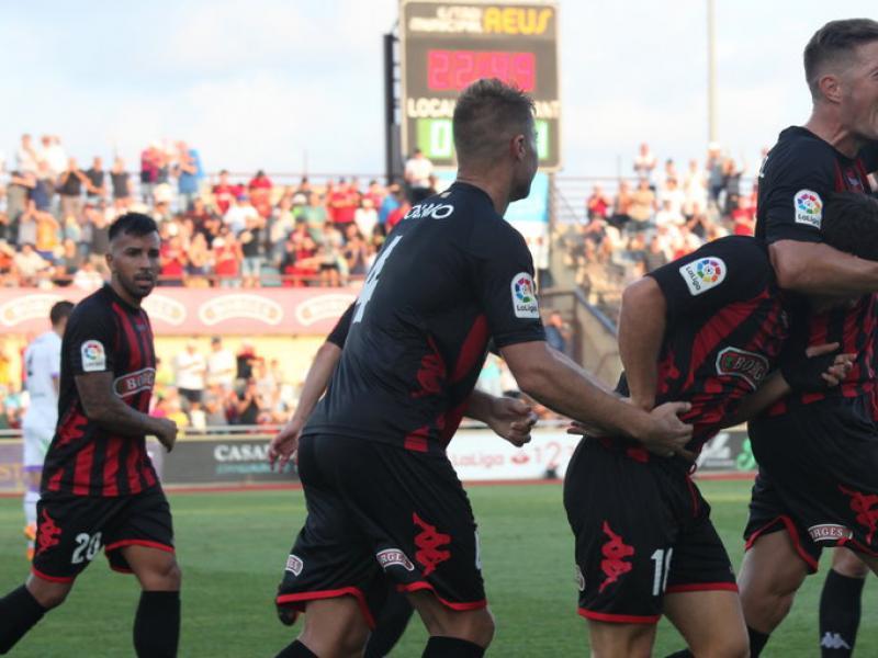 Els jugadors del Reus celebrant el gol de l'empat, dissabte passat, a l'estadi municipal, contra el Numància JUDIT FERNÀNDEZ