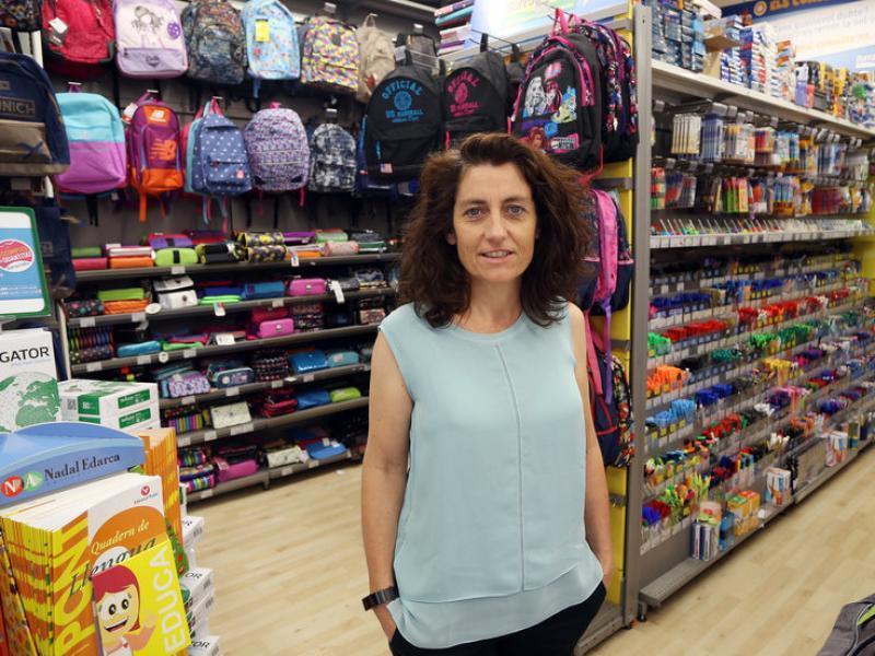Fabienne Maller, directora general de Bureau Vallée a l'Estat espanyol.  ANDREU PUIG