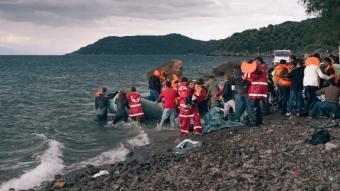 Refugiats que escapen de la guerra i la misèria arribat a Lesbos PEPA MASÓ