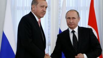 Els presidents turc i rus, Erdogan i Putin, aquest estiu, Sant Petersburg SERGEI KARPUKHIN / REUTERS