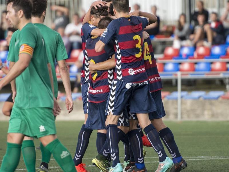 Els jugadors blaugrana celebren un gol d'ahir G.S. / ICONNA