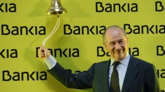 Rodrigo Rato, expresident de Bankia, el dia en què el banc va sortir a borsa, el juliol del 2011 P. MARCOU / AFP
