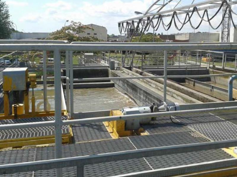 Aspecte de les instal·lacions actuals de la depuradora de Figueres EPA