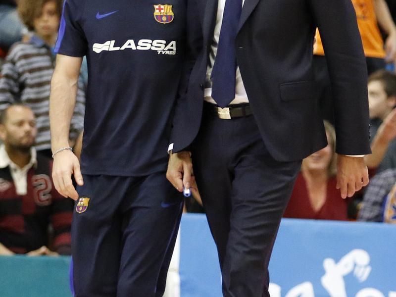 Bartzokas i el preparador físic del Barça. ACB PHOTO