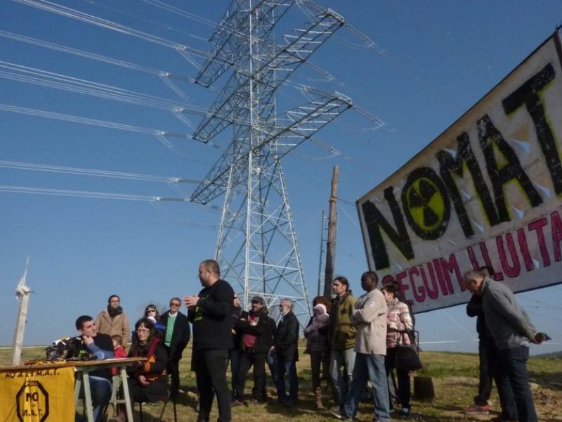 Una mobilització contra la MAT en una imatge d'arxiu del 2015 R.E
