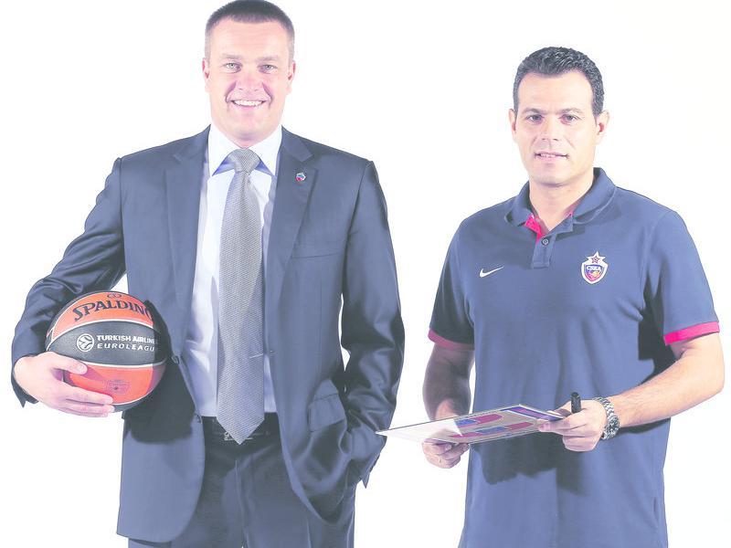 Andrei Vatutin i Dimitris Itoudis, aquesta temporada M. SERBIN / CSKABASKET