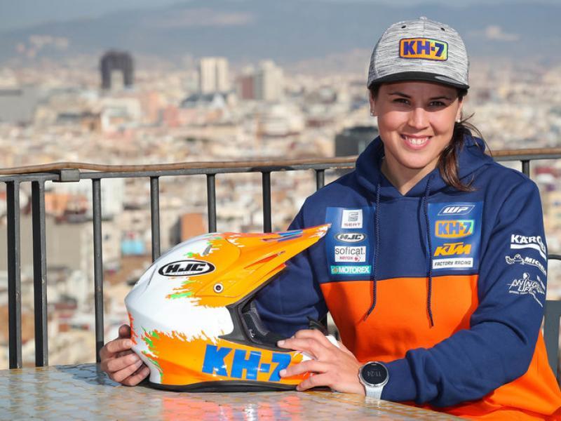 Laia Sainz, en una terrassa de Montjuïc, amb Barcelona al fons, ahir FÉLIX ROMERO