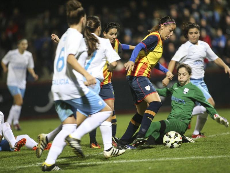Una acció ofensiva de la selecció catalana en el partit disputat ahir contra Galícia ÀLEX GALLARDO / FCF