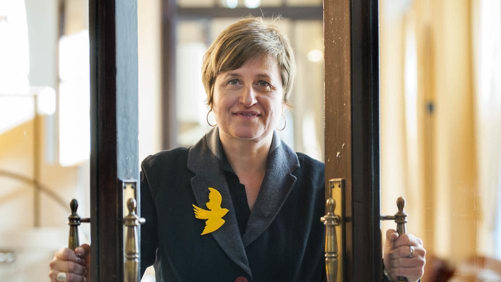 Anna Simó (ERC) en una imatge d'arxiu al Parlament