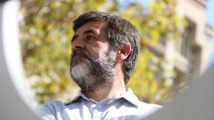 Jordi Sànchez, fotografiat durant la manifestació que hi va haver davant del TSJC el 21 de setembre del 2011