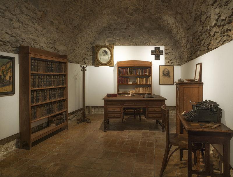 Imatge del despatx de Carles Rahola al Museu d'Història.