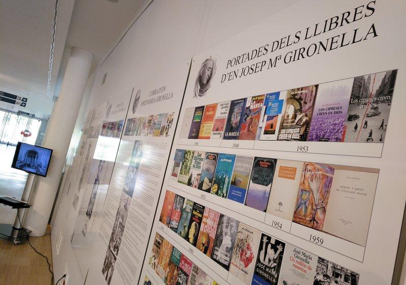 Imatge de l'exposició sobre Gironella, a la biblioteca Carles Rahola de Girona.