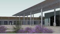 Imatge virtual del projecte de la marquesina que s'ha de construir al parc Central