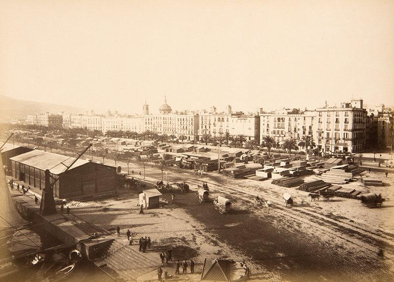 """<div class=""""caption"""">Vista de les obres del Port de Barcelona. PAU AUDOUARD / BIBLIOTECA DE CATALUNYA.</div>"""