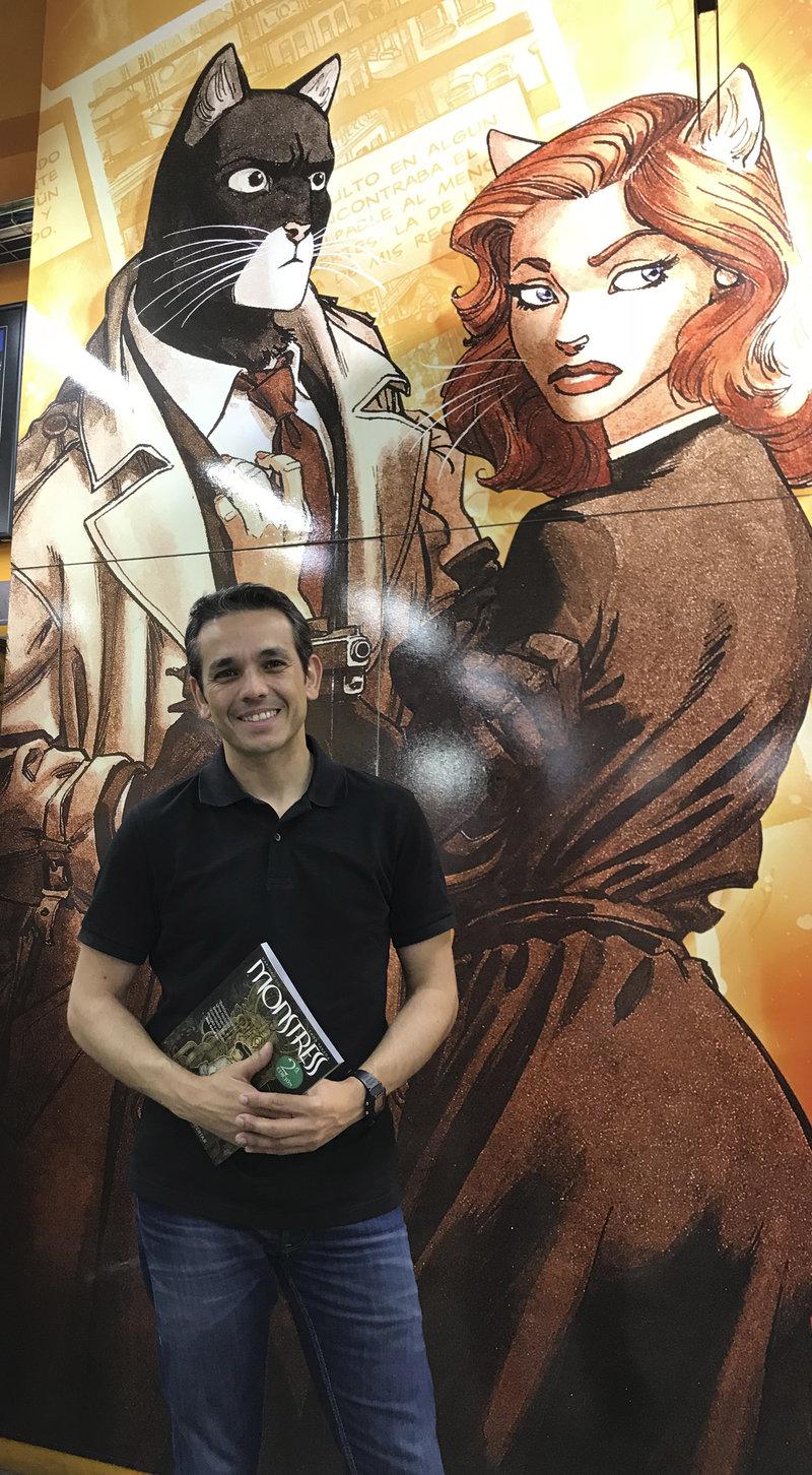 Òscar Valiente, director de Norma Comics a la llibreria N.C.