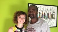 La Núria i l'Amadou, a casa seva, on van explicar la seva experiència al Voluntariat per la Llengua