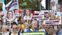Una manifestació per demanar la llibertat dels presos polítics i el retorn dels exiliats