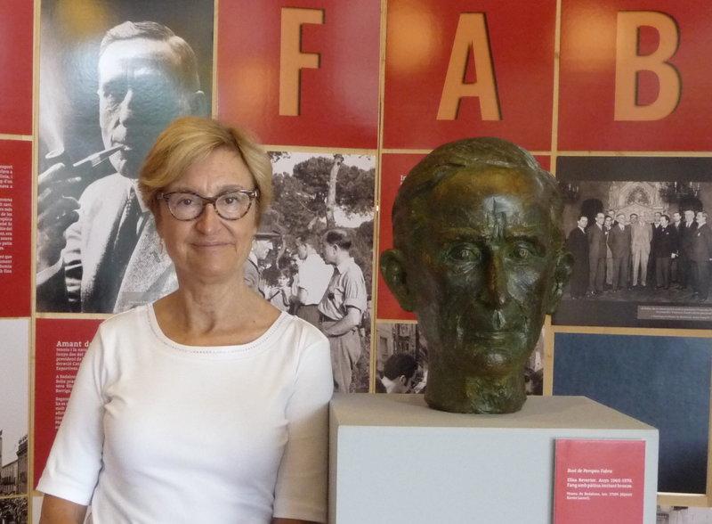 Margarida Abras, comissària de l'exposició 'En record de Pompeu Fabra' MARTA MEMBRIVES.