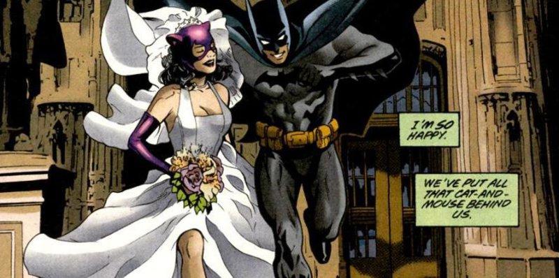 Batman i La Gatona, dos superherois que semblaven incompatibles però que finalment s'uneixen amb el matrimoni DC/ECC.
