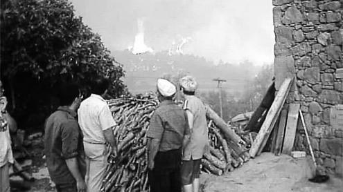 <b>Vint anys. </b>El 1998 les flames van cremar 27.000 hectàrees a la Catalunya Central