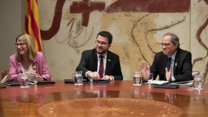 Elsa Artadi, la portaveu del govern, a la reunió de l'executiu