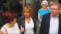 Mindan (Roses) i Felip (Figueres),  alcaldesses denunciades, ahir, amb el seu advocat