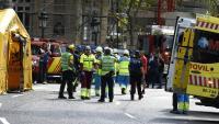 Efectius d'emergències davant de l'hotel Ritz de Madrid
