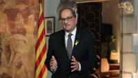 El president de la Generalitat, Quim Torra, durant el discurs institucional de la Diada del 10 de setembre