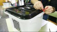 Una urna durant el referèndum de l'1 d'octubre del 2017