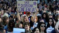 Una de les múltiples protestes que hi va haver arreu de l'Estat aquest any arran de la sentència de La Manada