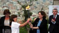 Colau en un acte commemoratiu dels Jocs Olímpics