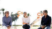 El líder de Cs a les Illes Balears, Xavier Pericay; la líder de Cs a Catalunya, Inés Arrimadas, i el diputat de Cs al Congrés Toni Cantó