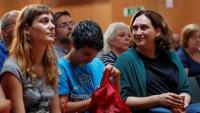 Jèssica Albiach, Lucía Martín i Ada Colau, en el consell nacional d'ahir dels comuns