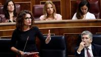 La ministra d'Hisenda, María Jesús Montero, al Congrés dels Diputats