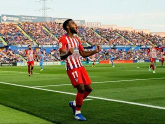 Lemar, eufòric pel seu primer gol a la lliga