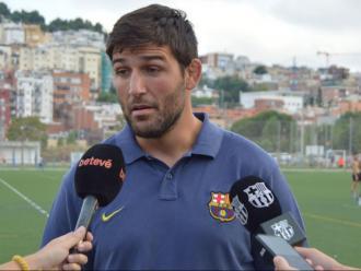 L'entrenador del FC Barcelona, Sergi Guerrero