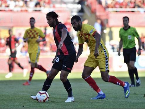 Imatge del partit entre el Reus i el Nàstic