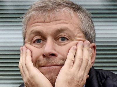 Abramóvitx en un partit del Chelsea