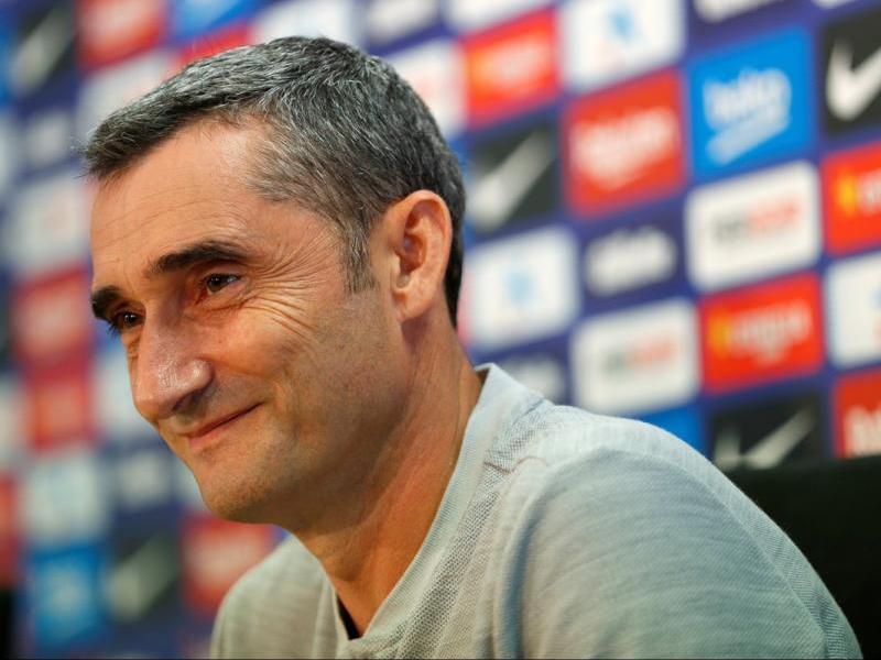 Valverde a la sala de premsa de la ciutat esportiva