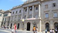 Façana de l'ajuntament de Barcelona