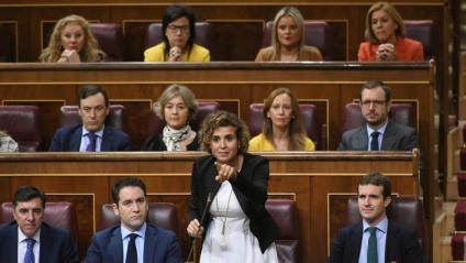 Laportaveu del PP, Dolors Montserrat, al Congrés dels Diputats