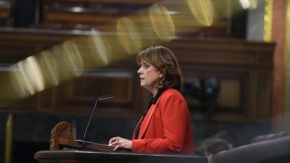 La ministra de Justícia, Dolores Delgado, al Congrés dels Diputats