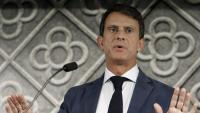 Manuel Valls aquest matí en roda de premsa a Barcelona