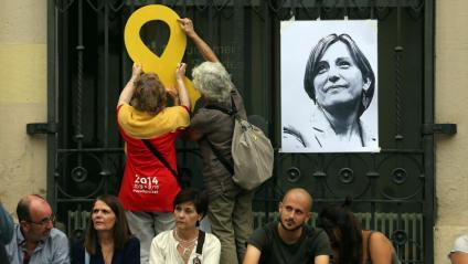 Imatge de Carme Forcadell en un acte de suport celebrat a Sabadell