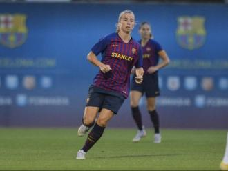 Bárbara Latorre, en un partit aquesta temporada