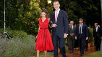 La reina i el rei espanyol durant l'entrega de premis de la FPdGi d'enguany a Vilablareix
